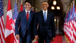 Obama urges Canadians to back Trudeau for another term