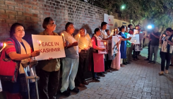 Candlelight vigil in Ahmedabad in support of Kashmiris