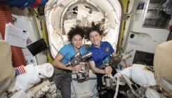 Two of NASA's women prep for 1st all-female spacewalk