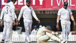 South Africa's Elgar replaced over concussion fears