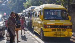 Parents struggle as private school buses stay off road