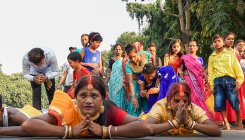 Chhath Puja: Devotees flout NGT over, perform rituals