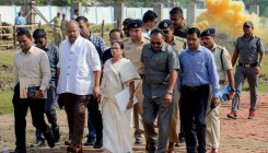 Mamata conducts survey of cyclone-hit North 24 Parganas