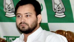 GA holds protest march, Tejashwi missing from the stir