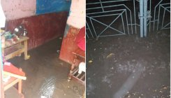 Overnight rains flood houses in Shivamogga
