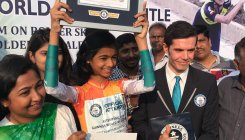12-yr-old sets Guinness record for skating blindfolded
