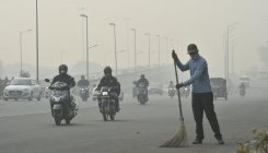 Air quality in poor category in city