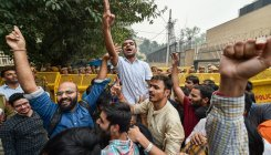 JNU students rally rocks capital; march stopped by cops