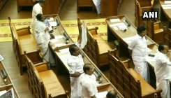 Blood-stained dress of Congress MLA in Kerala Assembly