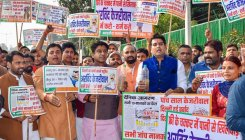 Delhi BJP protests over water quality