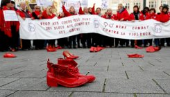 'She leaves him. He kills her': Belgium rally for women