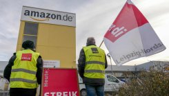 German Amazon workers strike on 'Black Friday'