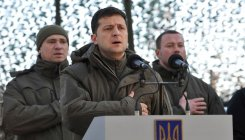 Ukraine Prez meets frontline army ahead of Putin talks