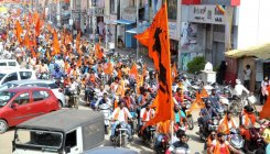 Datta Jayanti: VHP, Bajrang Dal hold bike rally