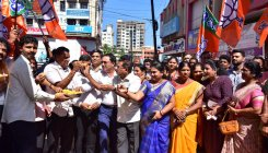 BJP workers celebrate party's victory in byelection