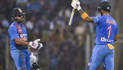 Rahul, Rohit, Kohli power India to 240/3