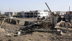 Blast damages hospital near US base in Afghantan