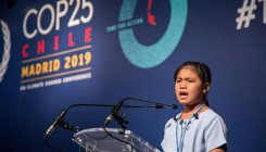 Indian 'Greta' urges leaders to act now to save planet