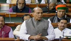 Cong partitioned India on religious ground: Rajnath