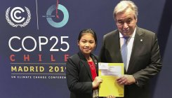 UN Chief lavishes praise on India's 8-yr-old activist