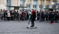Commuters hop on scooters as transport strikes in Paris