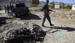 US army vehicle hit by roadside bomb in Afghanistan