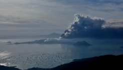 Philippines struggles to keep evacuees from volcano