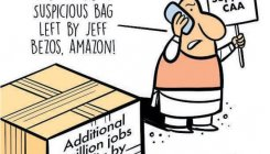 Cartoon: Jeff Bezos promises to add 1mn jobs in India