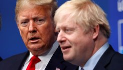 Trump, Johnson talk telecoms security
