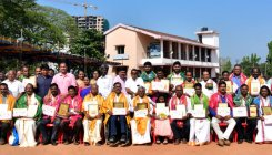District Rajyotsava and Sarvothama awards presented