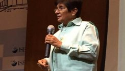 Kiran Bedi greeted by protests in Yanam