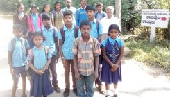 Students walk 5 km to reach school