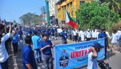Amid denial of permission, PFI activists take out rally