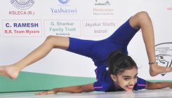 Girl set to create another record in Chakrasana