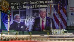 Huge billboards greeting Donald Trump put up in Agra