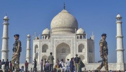 Trump's Taj visit: Royal graves get mud pack