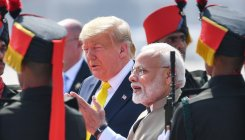 Security heightened in Kashmir as Trump's visit begins