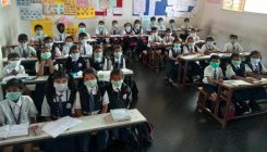 Wearing mask is mandatory in this Ajjampura school