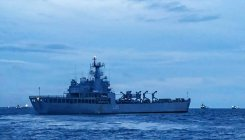 INS Magar departs from Male port after rescuing Indian