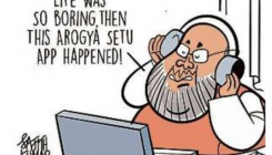 DH Toon: Amit Shah refutes illness claims