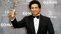Sachin Tendulkar receives best Laureus sporting moment
