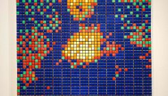 Mona Lisa made of Rubik's Cubes goes on sale in Paris