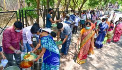 Door delivery of midday meal rations in villages