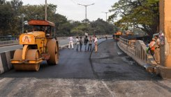 Flyover work stalled over dues to contractor