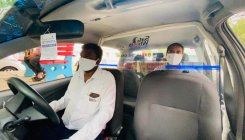 Partitions installed in cabs to curb coronavirus spread