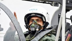 IAF chief Bhadauria flies Tejas single-seater aircraft