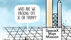 DH Toon | SpaceX crewed flight is 'go for launch'