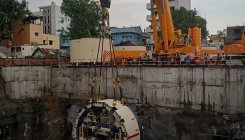 Tunnel boring machine lowered at Cantonment station