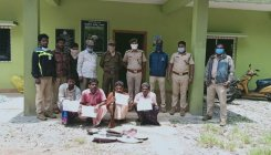 Four arrested for poaching in Chethukaya near Karike