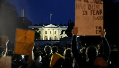 Tear gas fired as clashes erupt outside White House
